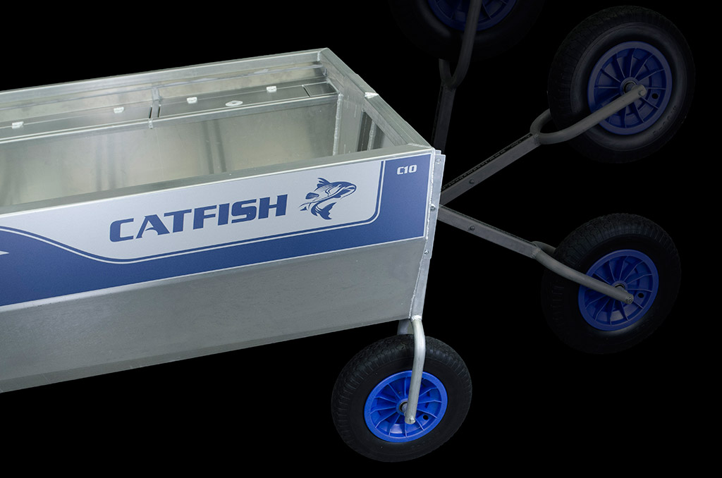 Picture Catfish's removable swivel wheels